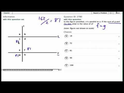 Grockit SAT Math - Multiple Choice: Question 2780