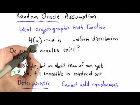 Random Oracle Solution - CS387 Unit 2 - Udacity