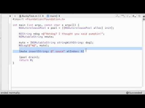 Objective C Programming Tutorial - 55 - Mutable Strings