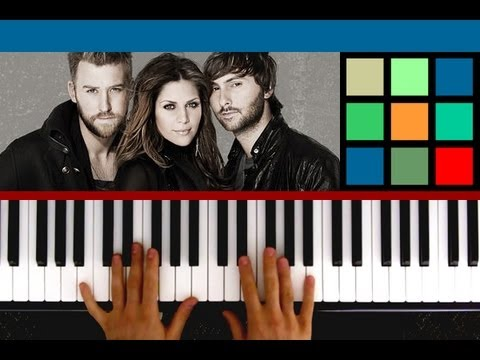 "How To Play ""Just A Kiss"" Piano Tutorial / Sheet Music (Lady Antebellum) feat. guitarprincesskeara"