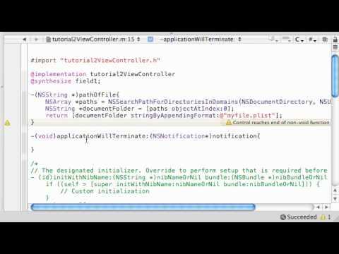 iPhone Development Tutorial - 35 - Saving Files