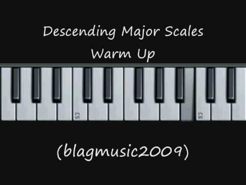 Descending Major Scales Warm Up Exercise (Opera Style)