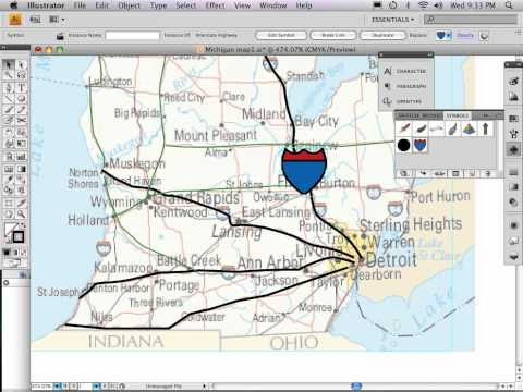 Part 8 of 9: Adobe Illustrator map tutorial DRAWING ROADS