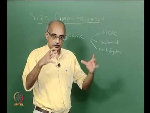 Mod-03 Lec-06 Morphological Characterization: Static vs dynamic methods of size analysis