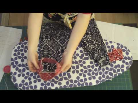 Learn to Sew 101 - Assembling the Pant Pieces Part III (Contrast Pieces) Lesson #10