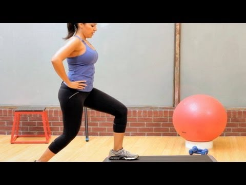 Best Leg Workout for Women: Step-up with Kick Back