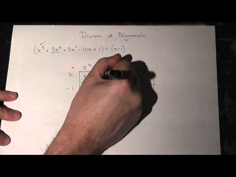 AS Maths revision video for core 1: trick for division of polynomials (simplest method)
