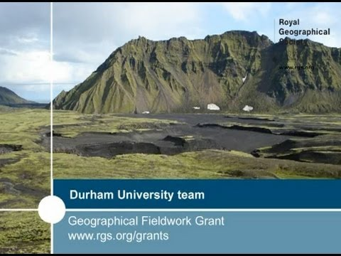 Geographical Fieldwork Grant recipients from Durham University talk about their fieldwork in Iceland