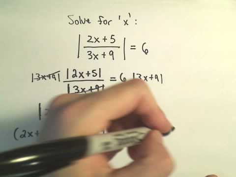 Solving Absolute Value Equations Containing TWO Absolute Value Expressions - Example 2