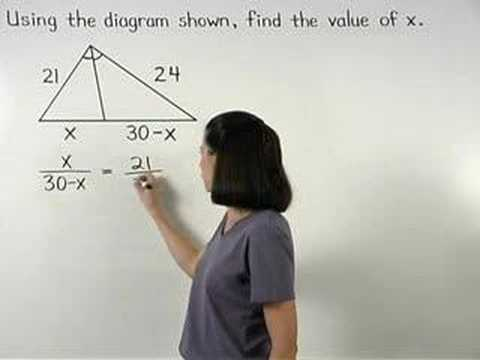 Triangle Angle Bisector Theorem - YourTeacher.com - Math Help