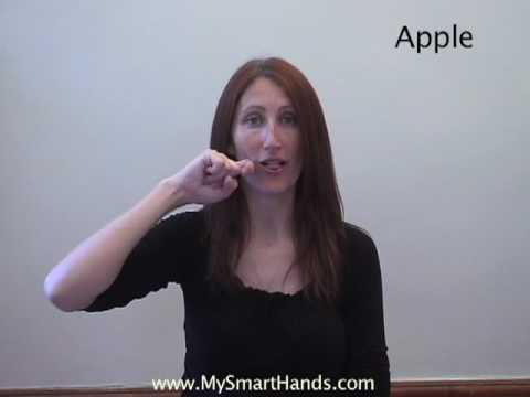 apple - ASL sign for apple
