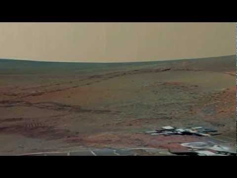 Mars crater 360 degree view