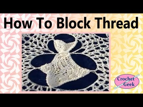 How to Block a Crochet Doily