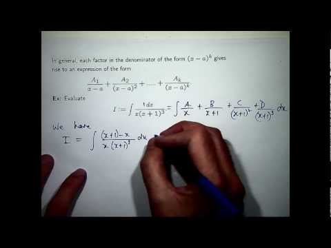 Integration & partial fractions