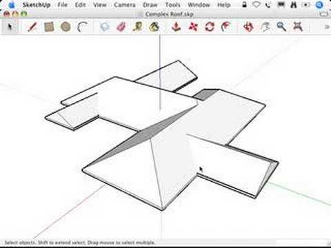 SketchUp: Using Intersect with Model to make roofs