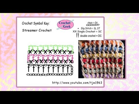 Crochet Geek - Streamer Crochet  Square