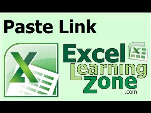 Microsoft Excel Tutorial to Copy and Paste a Link to Data on a Different Worksheet