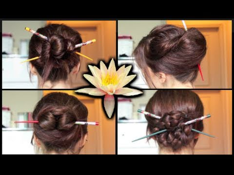 Four Simple Chopstick Hairstyles