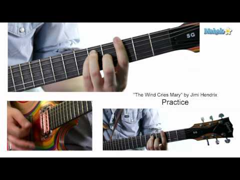 "How to Play ""The Wind Cries Mary"" by Jimi Hendrix on Guitar (Practice Video)"