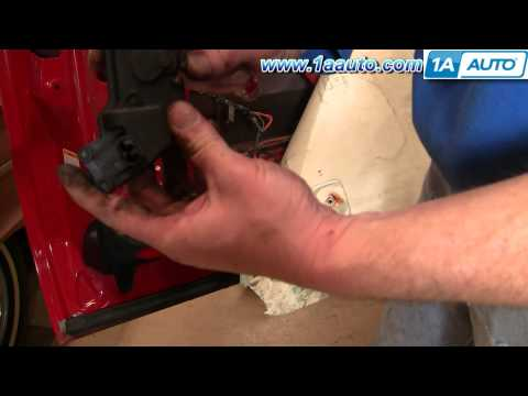 How To Replace Install Broken Power Door Lock Actuator Ford F250 F350 Super Duty 99-07 1AAuto.com