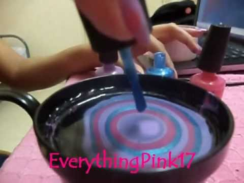 ♥ Easy Water Marble Nail Art:My First Attempt ♥ ( • ◡ • )