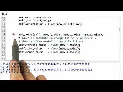 Add Noise - CS373 Unit 3 - Udacity