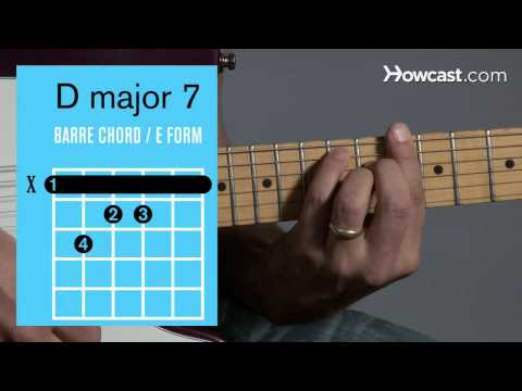 How to Play Guitar: Beginners / Barre Chords: D Major 7