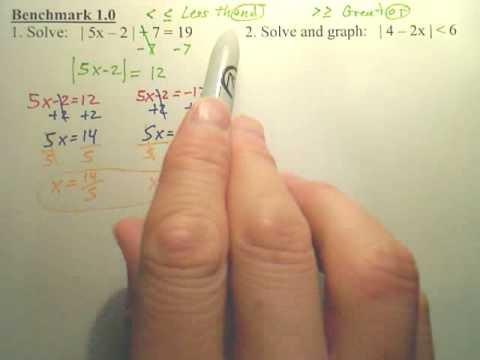 Benchmark 1 - Algebra 2