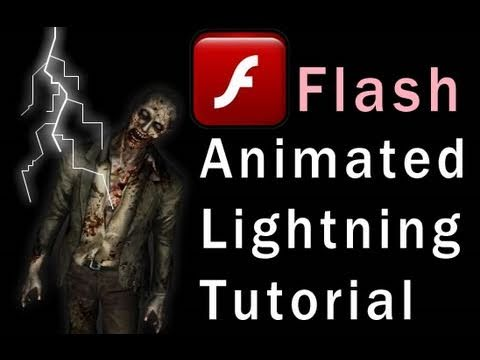 Flash Tutorial Animated Electric Storm Lightning Effect for CS5 CS4 CS3