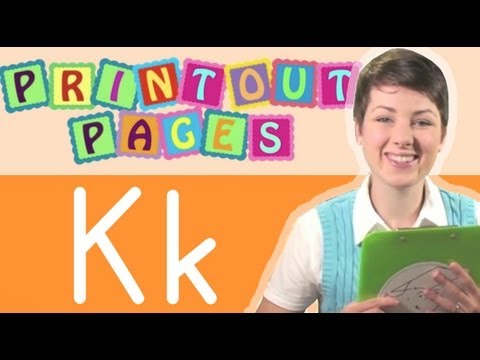 Learn to write letter K with Ms. Victoria, Learn the alphabet with Printout Pages on TinyGrads