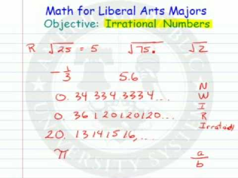 Classifying Numbers as Rational or Irrational