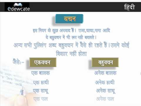 Learn Hindi Grammar : Vachan