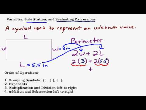 Variables, Substitution, and Evaluating Algebraic Expressions