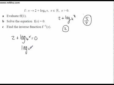 (1) Functions Past Exam Questions Core 3 log, inverse and solving
