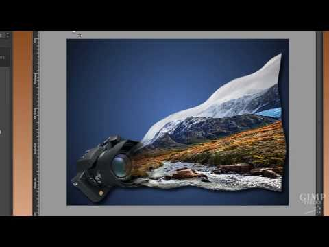 Let a photo flow into the camera -GIMP tutorial