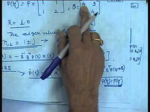 Mod-01 Lec-39 Lecture-39-Solution and Stability Analysis of Finite - time LQR Problem: