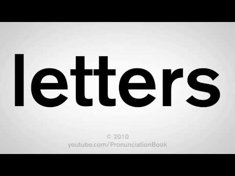 How To Pronounce Letters