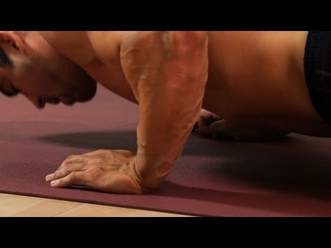 Bent Knee Push Up   Home Arm Workout for Men