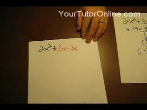 How to Factor a Quadratic Equation When a is not 1
