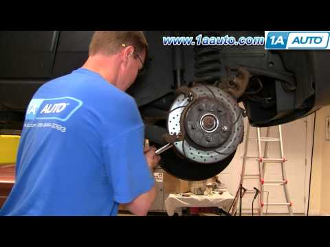How To Install Replace Front Wheel Hub Bearing Jeep Grand Cherokee 99-04 PART 2 1AAuto.com