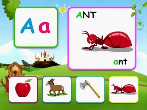 Alphabet reading for kids with  words - A