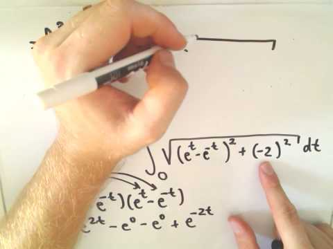 Arc Length Using Parametric Curves - Example 2