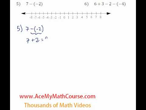 Basic Algebra Review - Adding & Subtracting Integers #5