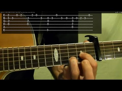 HERE COMES THE SUN ( Guitar Lesson ) by THE BEATLES