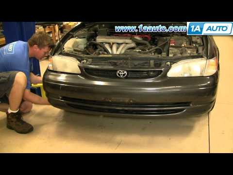 How To Install Replace Front Bumper Cover Toyota Corolla 98-02 1AAuto.com