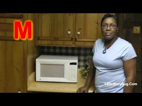 Preschool Activity - M is for Microwave - Littlestorybug