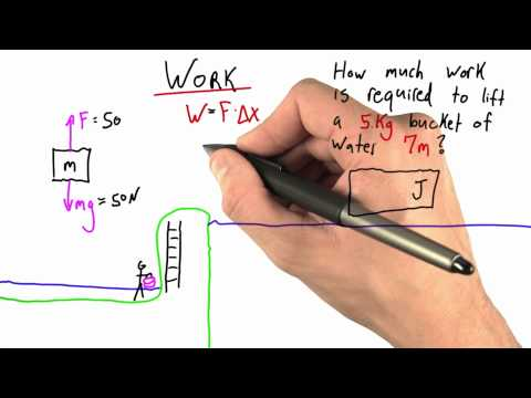 Carrying Water Vertically Solution - Intro to Physics - Work and Energy - Udacity
