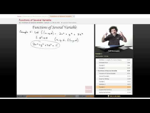 Multivariable Calculus: Functions of Several Variable