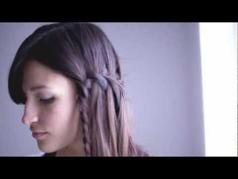 DIY waterfall braid hairstyle tutorial  ✂