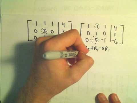 Using Gauss-Jordan to Solve a System of Three Linear Equations - Example 2